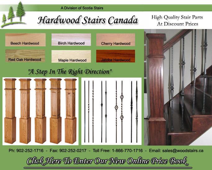 Hardwood Stairs Canada | Wood Stair Treads | Custom Stair Parts.